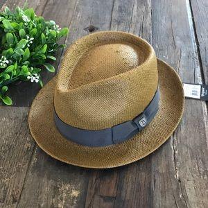 BRIXTON Men's Straw fedora hat - NEW